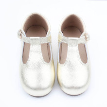Bayi Pakaian T-bar Kids Children Leather Shoes Girl