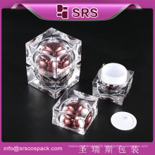 New Product Sunrise Packaging Fashion Personal Skincare Square Shape Clear Luxury 1Oz Jar