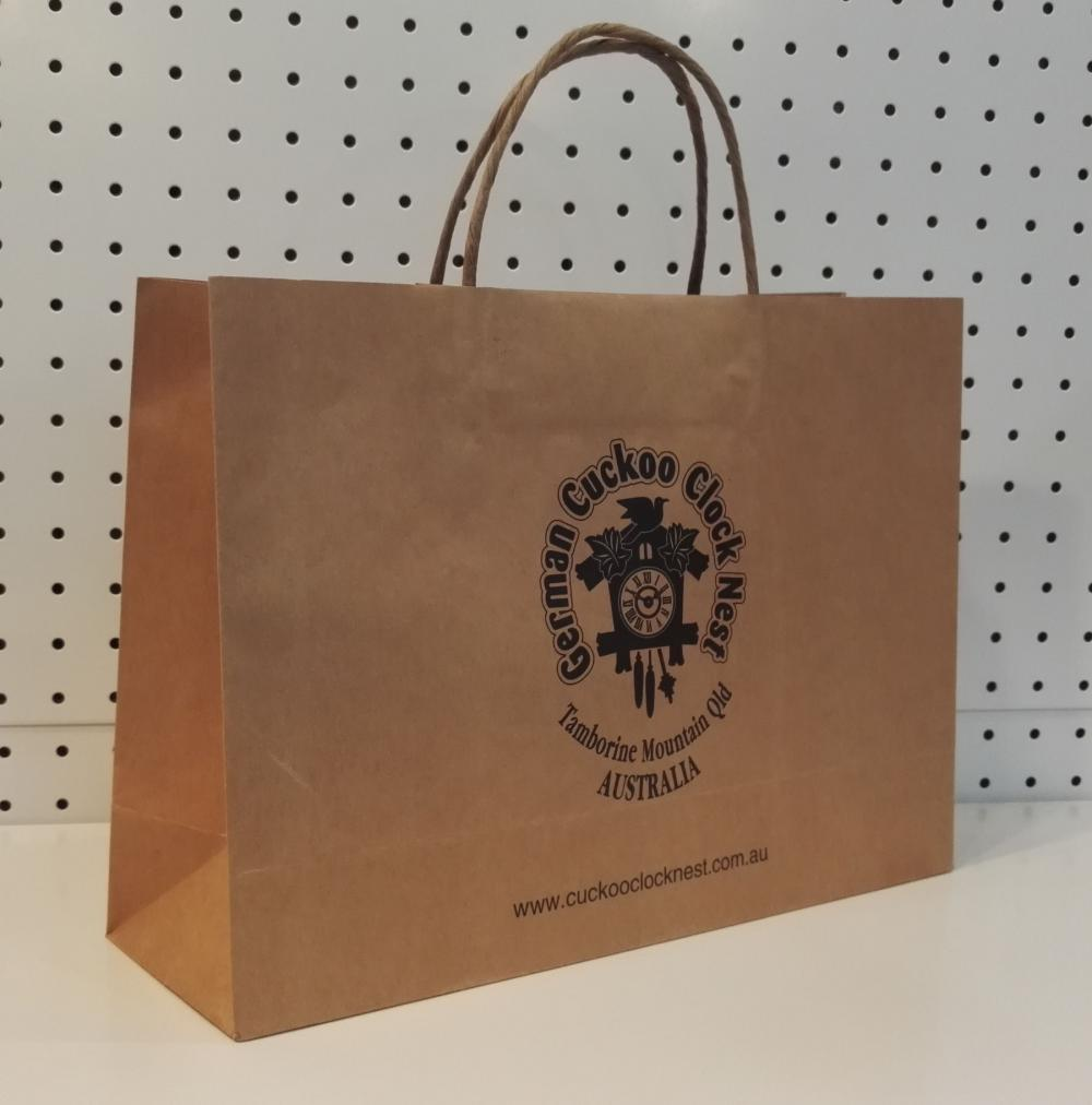 Printed Brown Kraft Paper Bags