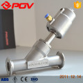 Flanged steam valve y type pneumatic control valve