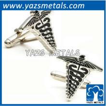 Caduceus medical cufflinks, customize metal cufflinks with personal design