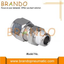 Male Straight Pneumatic Compression Ferrule Pipe Fittings