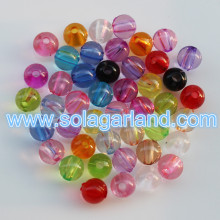 4-37MM Clear Acrylic Round Beads Loose Spacer Neclakce Pony Beads
