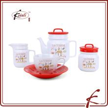 Potenciômetro cerâmico do chá e caneca de café