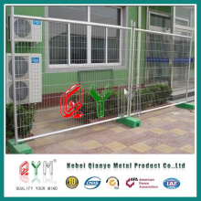 Mobile Fence with Couplings and Concrete Blocks