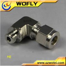 Raccords de tuyau métallique à angle droit de 1/4 po à 1/8 po, coude réducteur