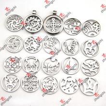 Locket del colgante de la moneda del acero inoxidable en las tendencias de la manera de la joyería (CL01-16)