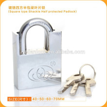 New Fashion Square Type Shackle Half Protected Padlock