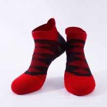 Meias de desporto em algodão com tornozelo e nylon