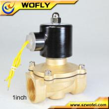 Válvula solenoide de 1/2 'NPT de aire de vapor de latón