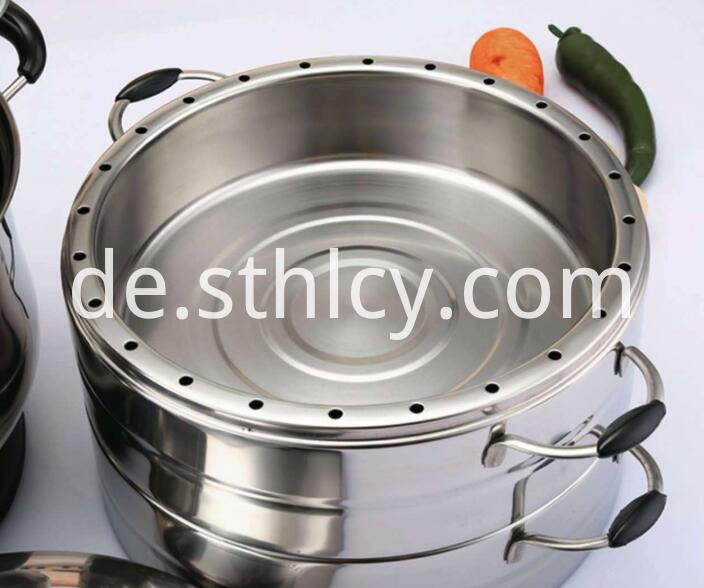 Stainless Steel 3 Tier Steamer Pot