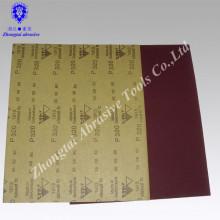 Aluminiumoxid wasserfestes Sandpapier, Kraftpapier, P60-2000