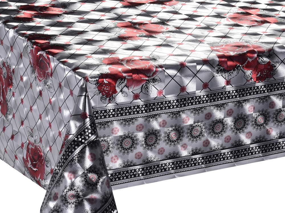Silver Double Face Coating Tablecloth