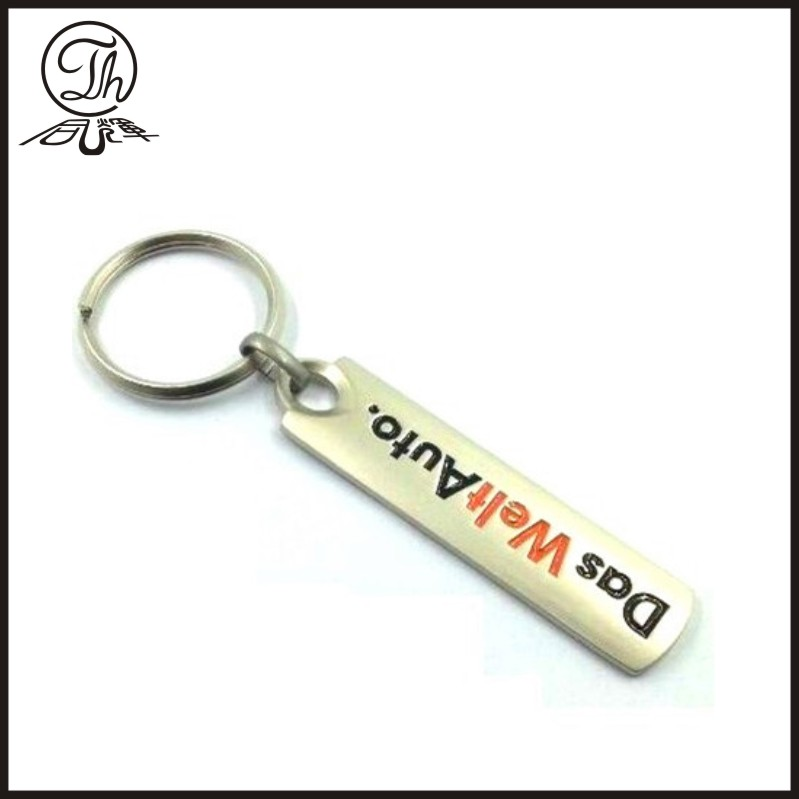 Custom printing sticker metal keychain