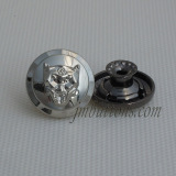 polishing plating shiny silver jeans wear button