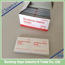 pad de préparation d'iode de povidone de 65mm x de 30mm non tissé