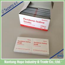 almofada não tecida da preparação do iodo do povidone de 65mm x de 30mm