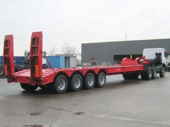 4 axle Hydraulic ladder low bed trailer