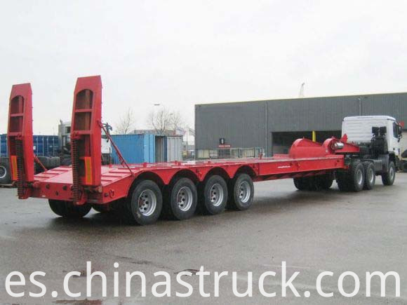 4 axle Hydraulic ladder low bed trailer