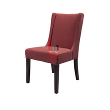 Cadeira de jantar de tecido rosa