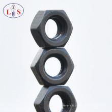 Écrou hexagonal en acier au carbone pour fixation avec bonne qualité