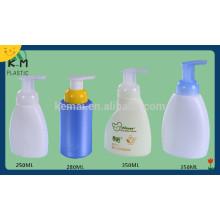 Las botellas plásticas de la loción del plástico de la fuente de la fábrica con la bomba, botellas de la bomba de la loción del champú