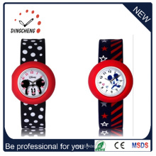 Waterproof Quartz Silicone Wristwatch Slap Kids Wrist Watch (DC-1052)