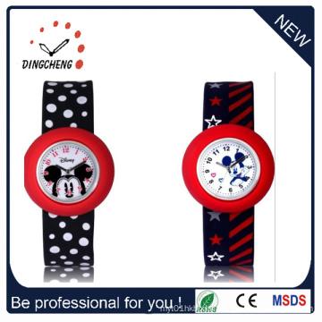 Waterproof Quartz Silicone Wristwatch Slap Kids Wrist Watch (DC-1052)