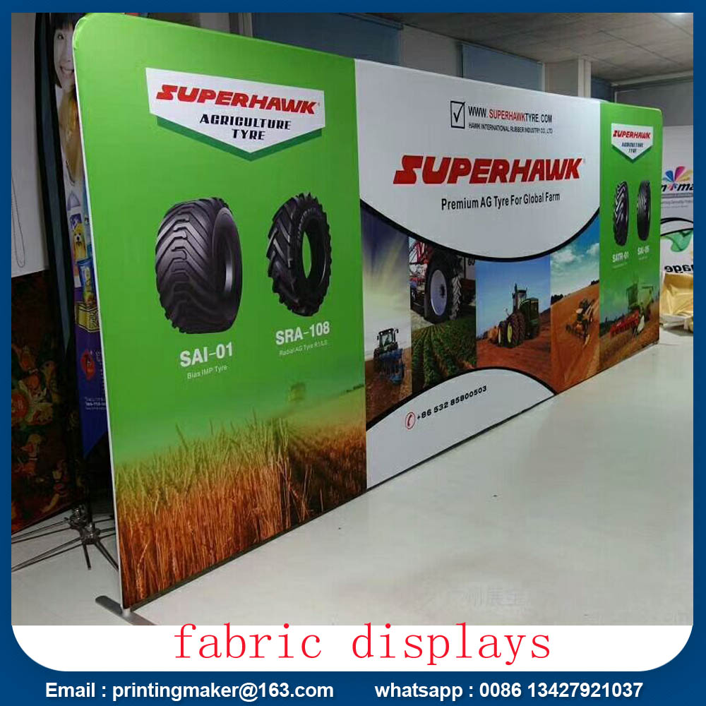 8ft tension fabric displays