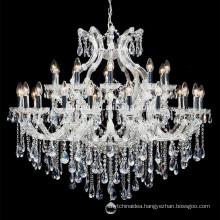 Church Lighting Lustre de Cristal Wedding Decoration Crystal Glass Chandelier Lighting