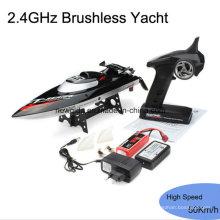 2.4GHz de alta velocidad 50 kilometros / H Yacht RC Racing barcos con motor sin escobillas