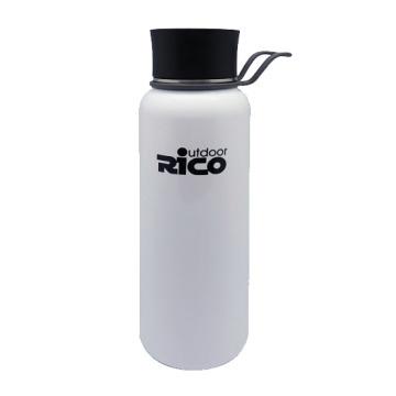 Outdoor Activity Stainless Steel Vacuum Bottle Press Cap Glossy White, Matte Black, Sliver 1200ml, 500ml