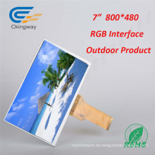 "7 ""Interfaz RGB 800 * 480 Pantalla LCD"