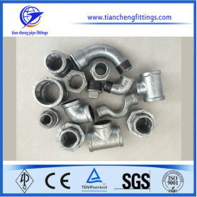 Malleable Iron Pipe Fittings Hot Dipping