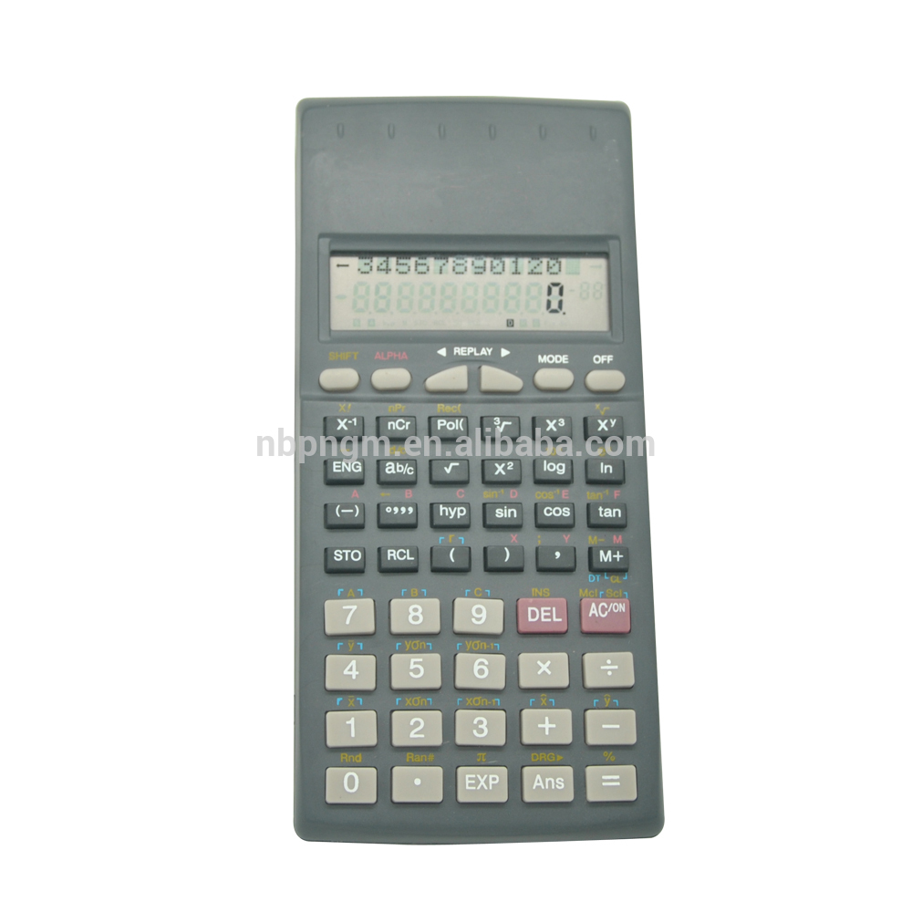 2 Line 10 Digits Scientific Calculator with Flip Cover