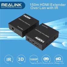 150m HDMI más de un solo Cat5 CAT6 Extender (IR + HDMI sobre TCP / IP)