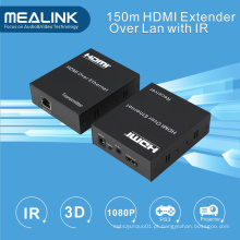 150m HDMI sobre o único Cat5 Extender CAT6 (IR + HDMI sobre TCP / IP)