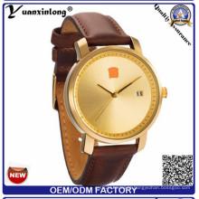 Yxl-927 Homens Relógios Novo Luxo marca relógio de couro genuíno Genuine relógio impermeável Masculino Quartz relógio de pulso
