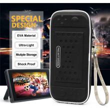 Bolsa de almacenamiento de cremallera dura protectora de viaje NS EVA portátil bolsa para Nintendo Switch con ranura para tarjeta de 8 juegos