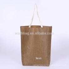 2018 venden al por mayor la bolsa de asas promocional no tejida reutilizable para hacer compras, regalo, supermercado