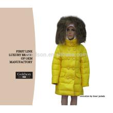 Modificado para requisitos particulares La manera de Causual abajo pluma a los niños abajo de la chaqueta del ajuste del mapache