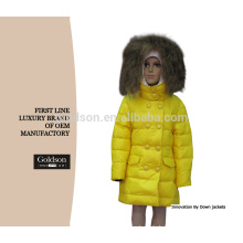 Personnalisé Causual Fashion Down Plume Enfants Down Jacket Raccoon Trim