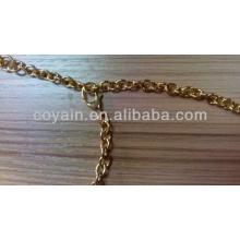 Colar da corrente do cabo do chapeamento do ouro da jóia do aço inoxidável 316