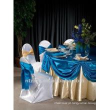 tampa da cadeira luxuriante casamento de cetim