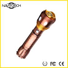 Linterna de aluminio recargable del zumbido del CREE XP-E LED 18650 (NK-677)