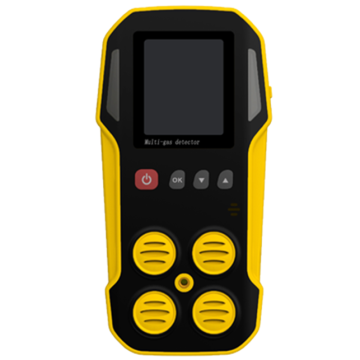 Portable 4 gas multi gas detector CH4 / LEL O2 H2S CO