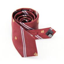 Hommes de cravate tissés naturels de haute qualité avec le logo du client