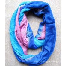Moda senhoras poliéster gravata dye infinidade lenço