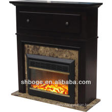 good artistic brown oak wooden cheap fireplace mantel