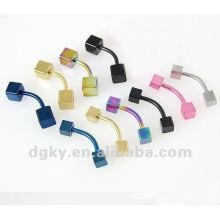 Perçage corporel / anneau en sourdine en acier inoxydable double anneau